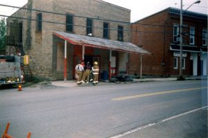 Fireman washing Bldg 1999 Museum Photos 1 (1)